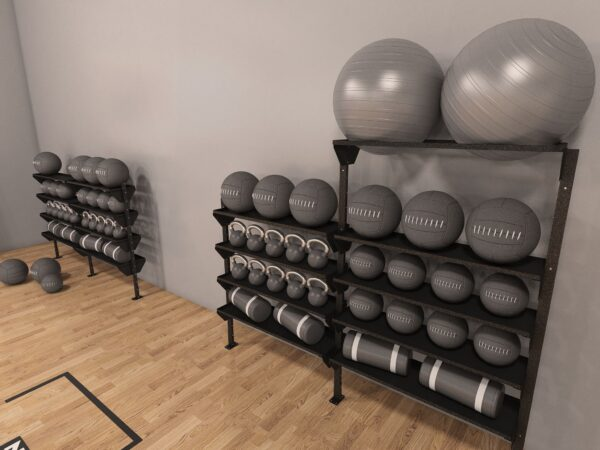 floor mounted fitGear solutions storage